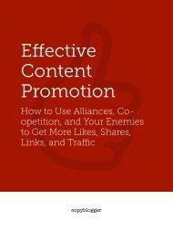 Effective Content Promotion