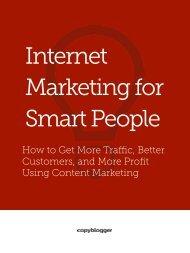 Internet Marketing for Smart People