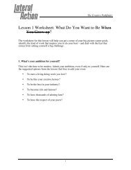Lesson 1 Worksheet: What Do You Want to Be When You Grow up?