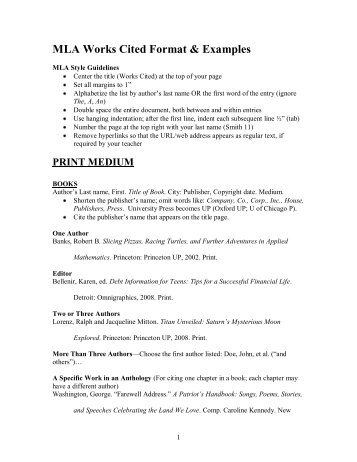 mla format work cited template - mla cita