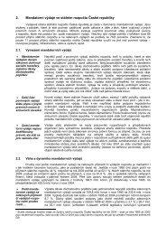 2. Mandatorní výdaje ve státním rozpočtu České republiky