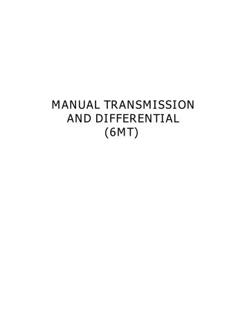 manual transmission and differential (6mt) - Spooled up Racing