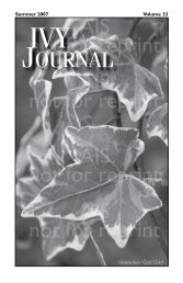 Volume 33 - American Ivy Society