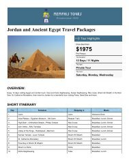 Travel Packages to Jordan & Ancient Egypt - Memphis Tours Egypt