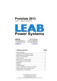Preisliste 2013 - LEAB