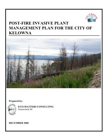 WEED MANAGEMENT PLAN - City of Kelowna