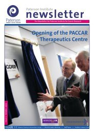 Autumn 2007 - The Paterson Institute for Cancer Research - The ...