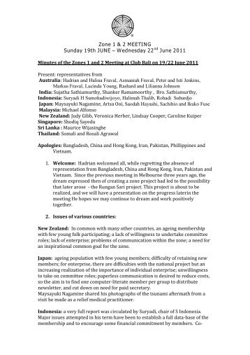 zones 1-2 council meeting minutes june 2011 - Subud World News
