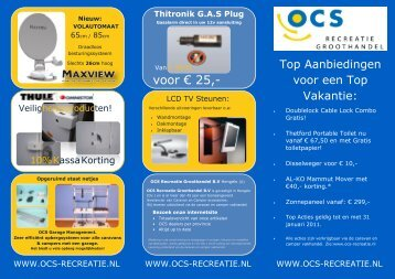 voor € 25,- - OCS Recreatie Groothandel B.V.