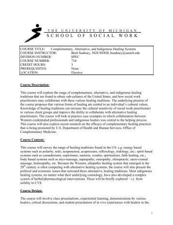 Syllabus - University of Michigan School of Social Work