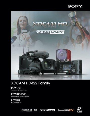 XDCAM HD422 Family - Arizona MPS