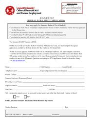 summer 2012 federal work study application - Cornell Career ...