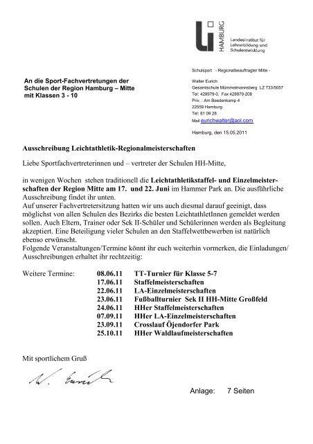 Schulen der Region Hamburg - Schulsport-Hamburg.de