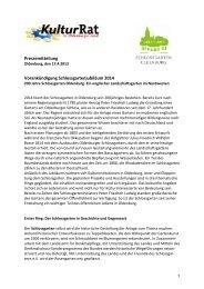 Vorankündigung Schlossgartenjubiläum 2014 - der ...