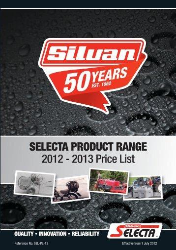 2012-13 Selecta Price Book - Silvan Australia