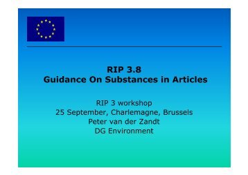 Guidance On Substances in Articles