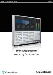 Bedienungsanleitung Master X3 for PowerCore - TC Electronic