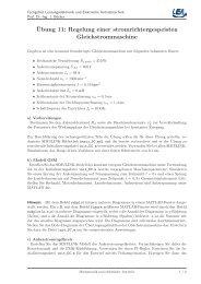 Ubung 11 - Fachgebiet Leistungselektronik und Elektrische ...