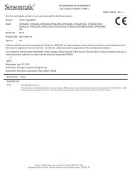 Dual Technology VST - Certificate of Conformity
