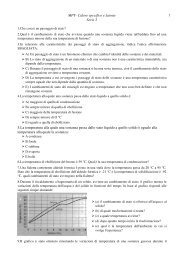 MPT- Calore specifico e latente Serie 2 5.La ... - Ticino.com