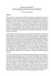 Cloud Computing aus ökonomischer Perspektive - Hochschule für ...