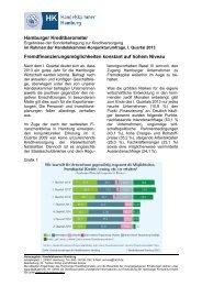 Kreditbarometer 1. Quartal 2013 - Handelskammer Hamburg