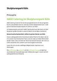 Informationen Räumlichkeiten Skulpturenpark 2011 - Köln Locations