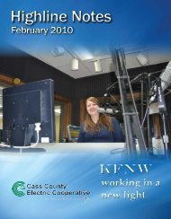 February - Cass County Electric Cooperative