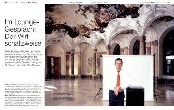 Im Lounge- Gespräch: Der Wirt- schaftsweise - Universität Würzburg