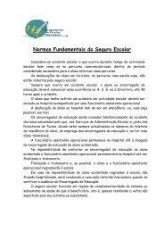 Normas Fundamentais do Seguro Escolar - Agrupamento de ...