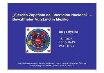 EZLN - Bewaffneter Aufstand in Mexiko