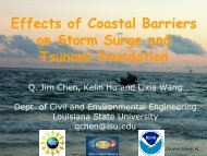 Effects of Coastal Barriers on Storm Surge and Tsunami Inundation