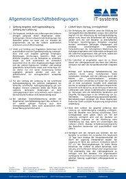 Allgemeine Geschäftsbedingungen - SAE IT-systems