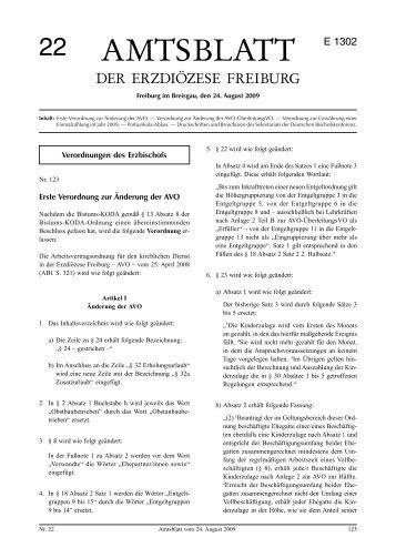 Amtsblatt Nr. 22 - Erzbischöfliches Ordinariat Freiburg