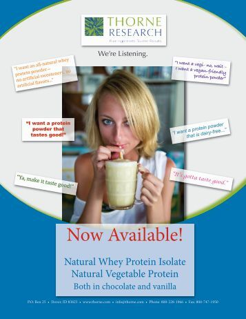 Natural Whey Protein Isolate - Thorne Research