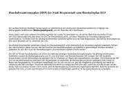 Haushaltssanierungsplan (HSP) der Stadt Bergneustadt zum ...