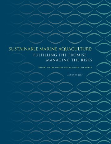SUSTAINAbLE MARINE AQUACULTURE - The Pew Charitable Trusts