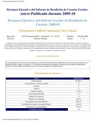 School Accountability Report Card (SARC) - Paramount Unified ...