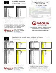 Porin paikallisliikenne - linja 7 Talviaikataulut ... - Veolia Transport