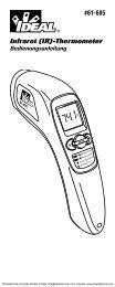 Infrarot (IR)-Thermometer Bedienungsanleitung - PK Elektronik