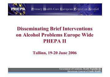 Estonia Meeting main presentation - PHEPA