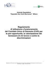 CUG - Ospedale San Carlo Borromeo
