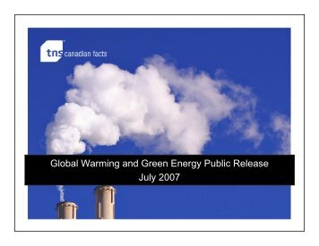 Global Warming and Green Energy Public Release ... - TNS Canada