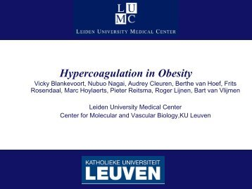 Hypercoagulation and obesity