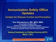 Update on the Immunization Safety Office - HRSA