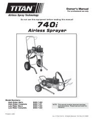 740i - Paint Sprayers, HVLP Sprayers, Powered Rollers