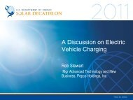 A Discussion on Electric Vehicle Charging - Solar Decathlon