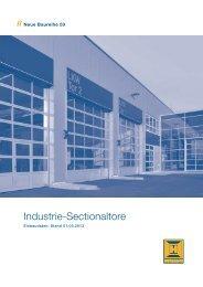 Einbaudaten Industrie Sectionaltore BR50