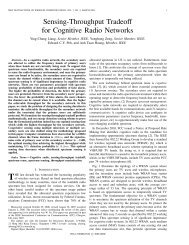 Sensing-Throughput Tradeoff for Cognitive Radio Networks - A*Star