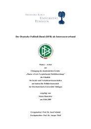 Der Deutsche Fußball-Bund (DFB) als ... - Fussball Kultur